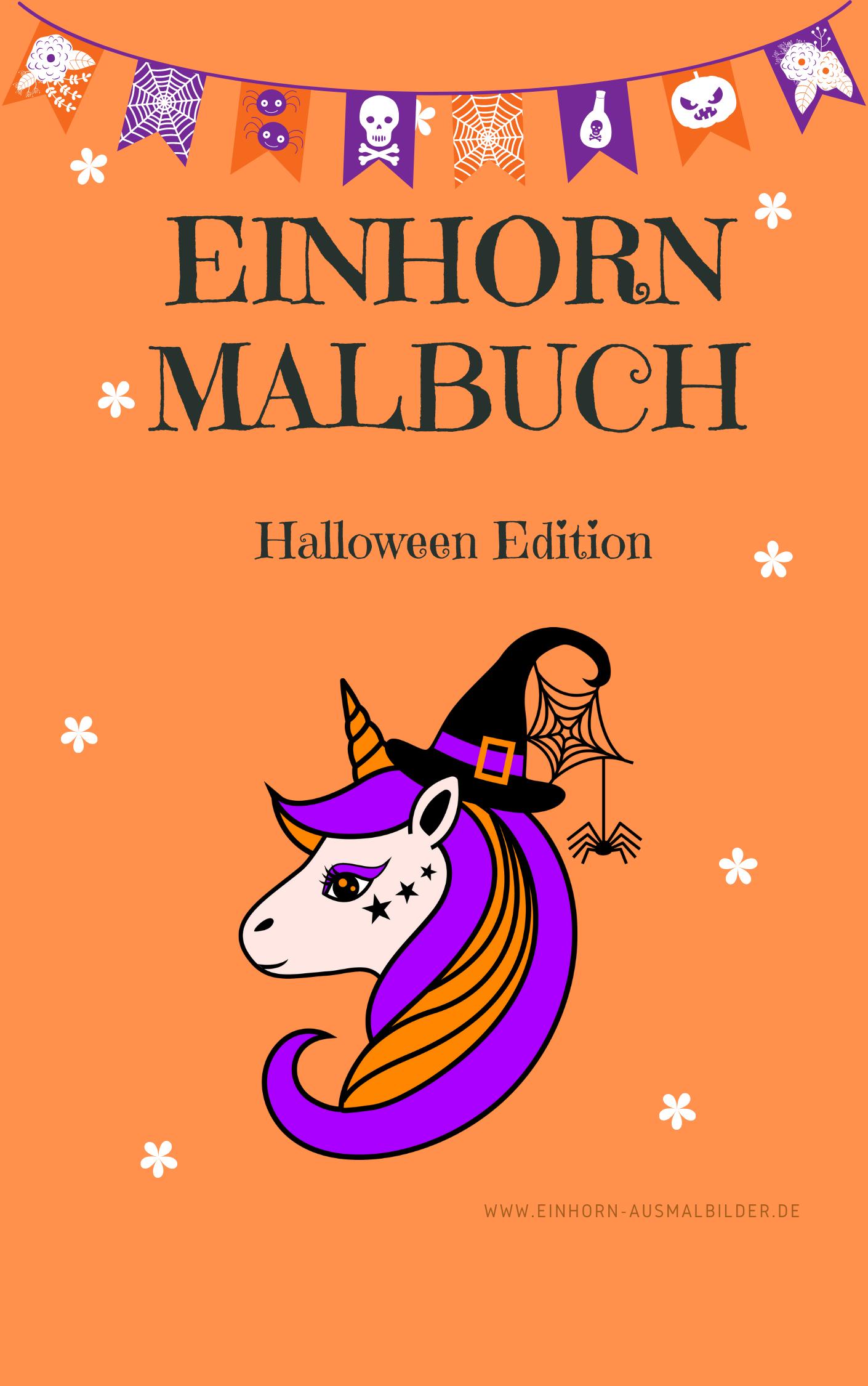 Einhorn Malbuch Halloween Edition