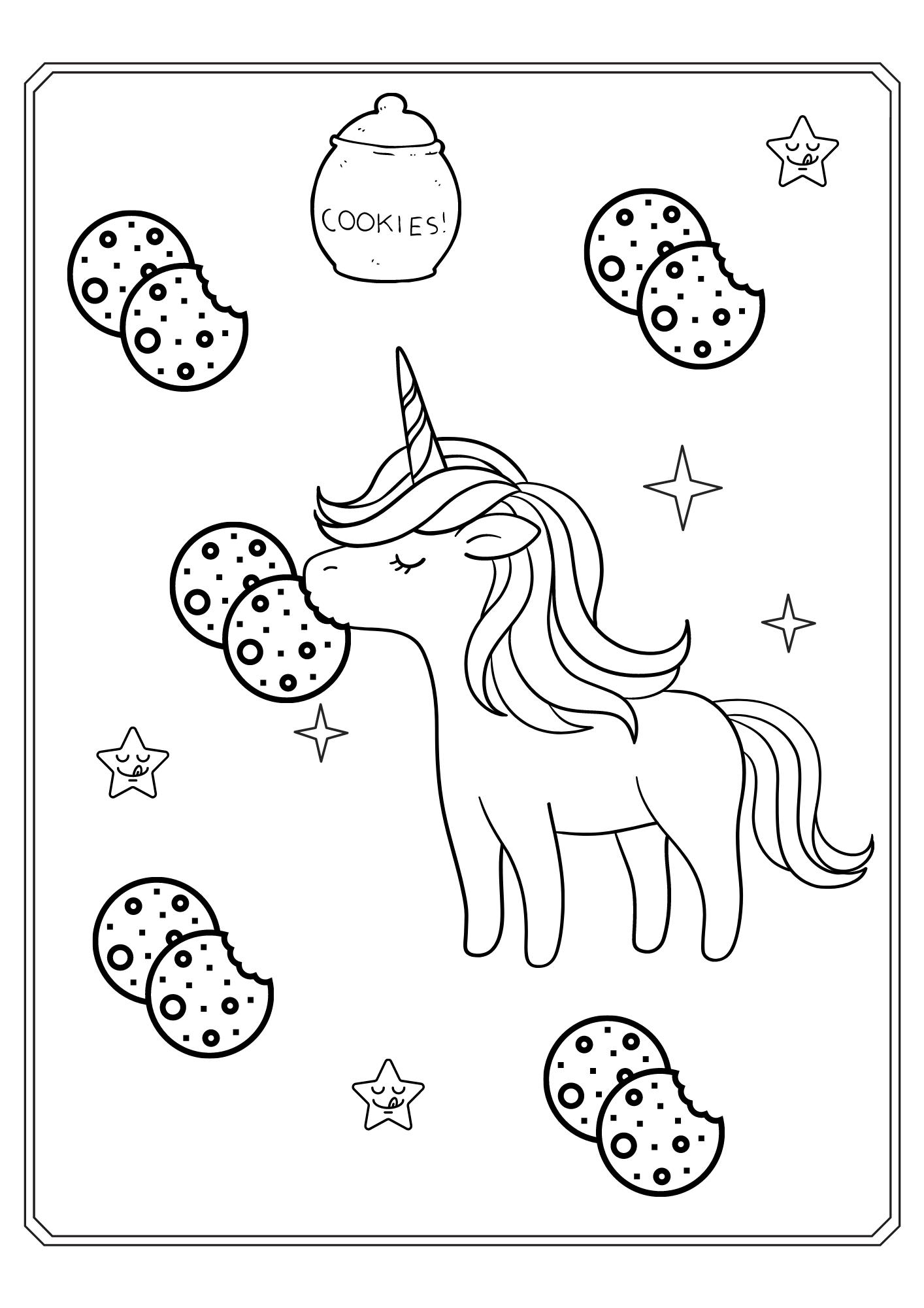 Einhorn mit Keks
