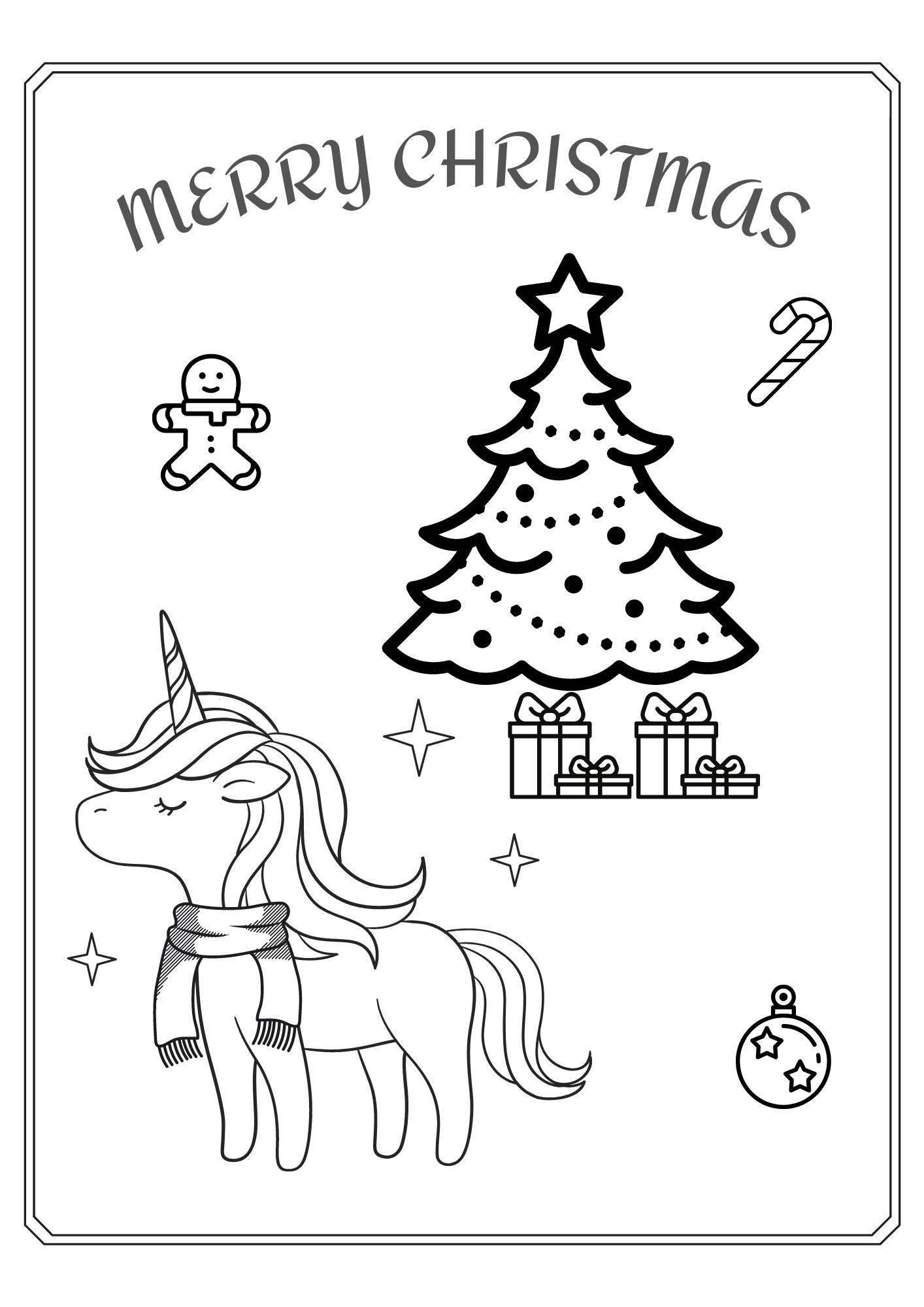 Einhorn Weihnachten